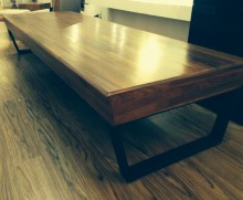 SOLID OLD TEAK COFFEE TABLE